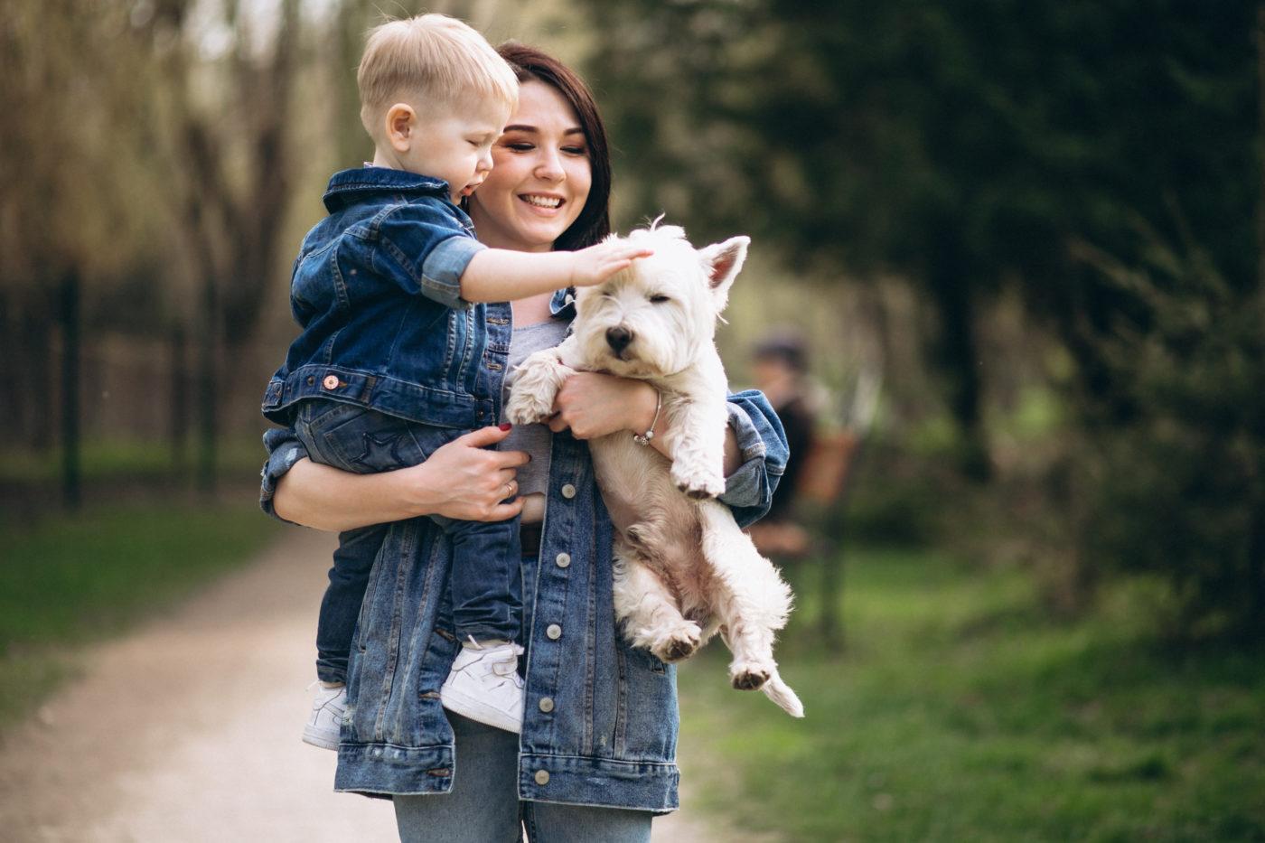 Adotar um cãozinho faz bem para as crianças